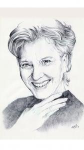 Dibujo de Marisa Paredes a bolígrafo