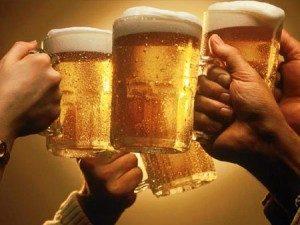 comer con cerveza